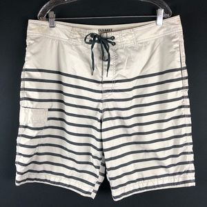 Old Navy Striped Drawstring Swim Board Shorts